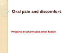 S07 Oral Pain And Discomfort DR EMAN